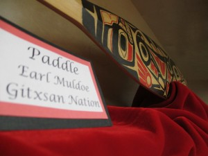 Paddle made by Earl Muldoe